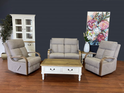 Mayford 2 Seater Recliner Suite with 2 recliner chairs