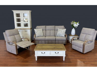 Mayford 3 Seater Recliner Suite with 2 recliner chairs