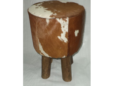 Rodeo Stool - Tan & White