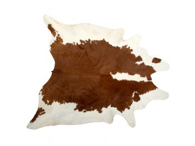Cow Hide Tan and White
