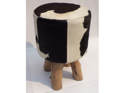 Rodeo Stool - Black & White
