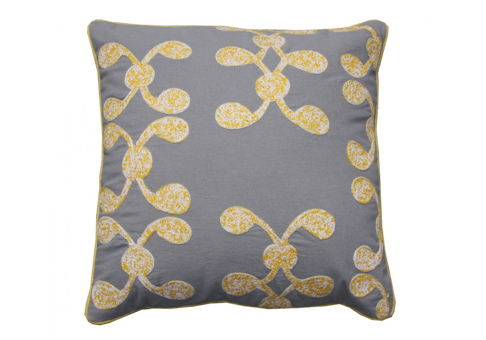 Yellow Swirls Cushion