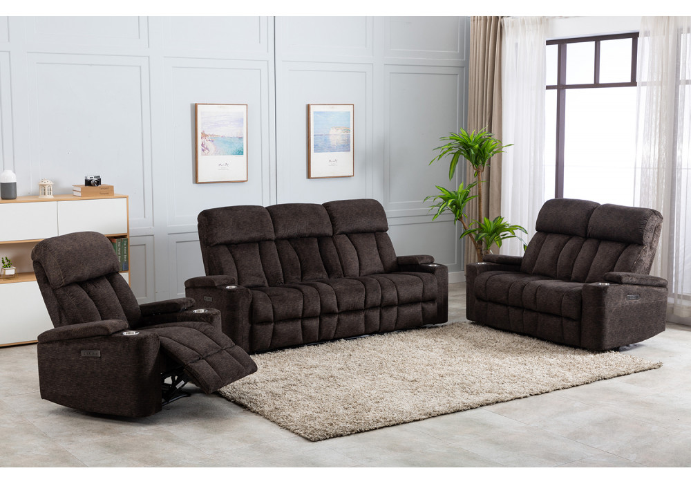 Dawson 2 Seater Electric Recliner + 2 Recliner Chairs