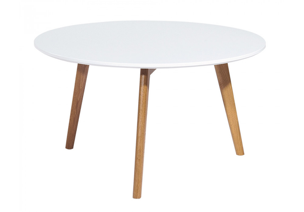 Hyland Round 800 Dining Table White