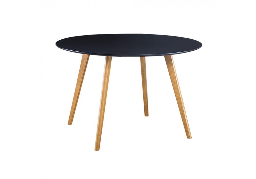 Hyland Round 1200 Dining Table Black