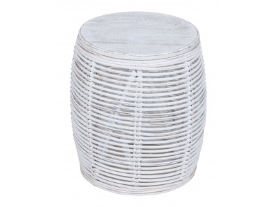 Java Stool White