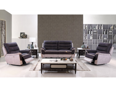 Boston 3 Seater Lounge with 2 Recliner Chairs