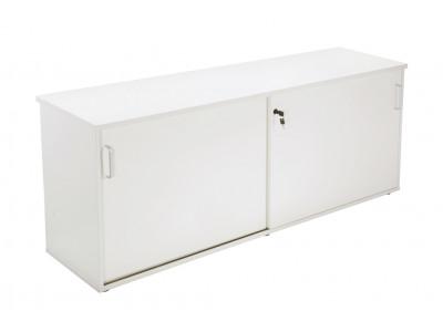 Sliding Door Credenza - White 1200mm