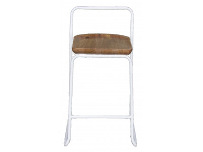 Albert Bar Stool - White