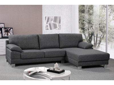 Empire Chaise Suite RHF Charcoal