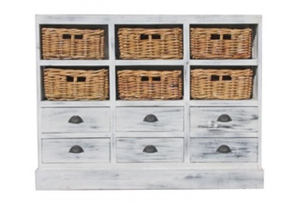 Karina Whitewash Storage Chest