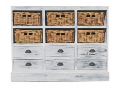 Karina Whitewash Storage Chest