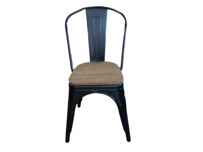 Tully Chair Black Timber Seat