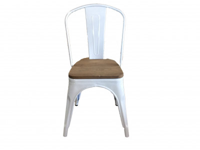 Tully Chair White Timber Seat