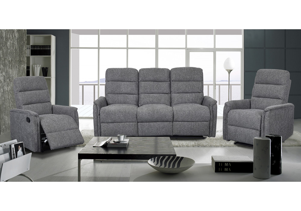 Rutherford 3 Seater + 2 Recliner Chairs