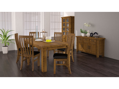 Woolshed 7pce Dining Suite - Cushion Chairs