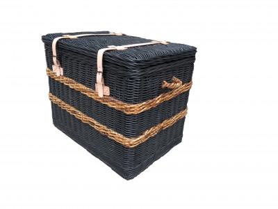 Hyams Wicker Storage Chest Black