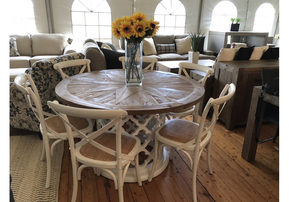 Seychelles 7 piece Round Dining Suite with Bella Chairs