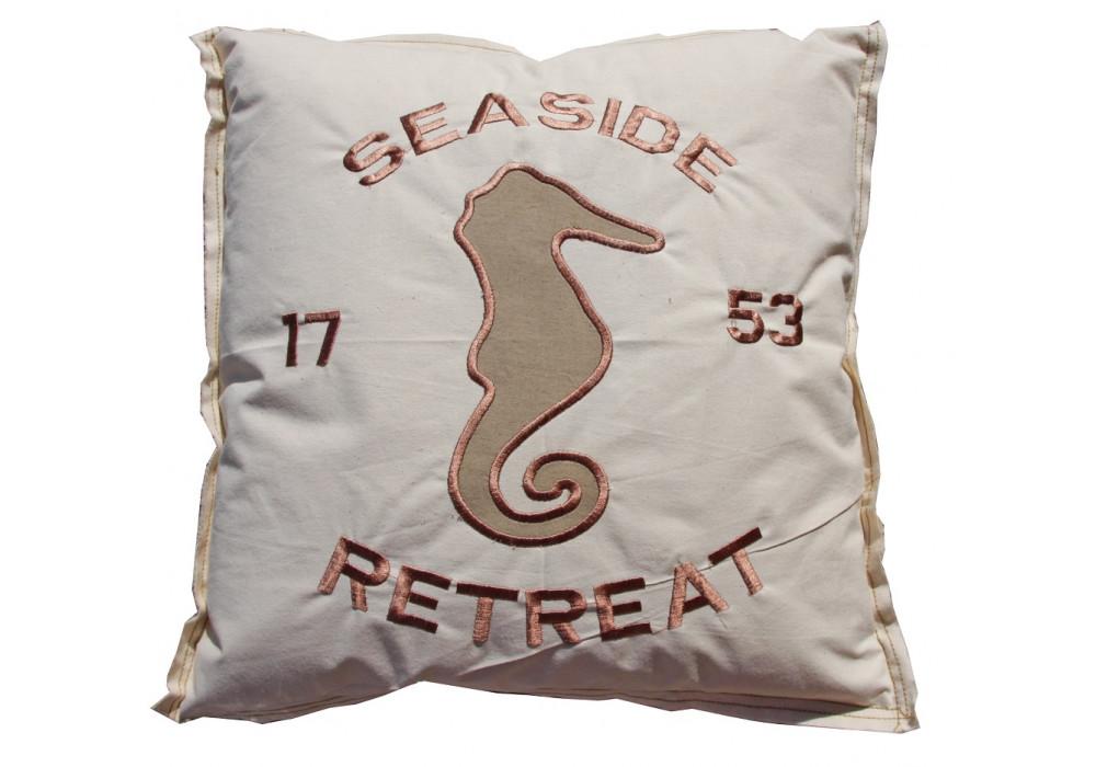 Seahorse Cushion Beige