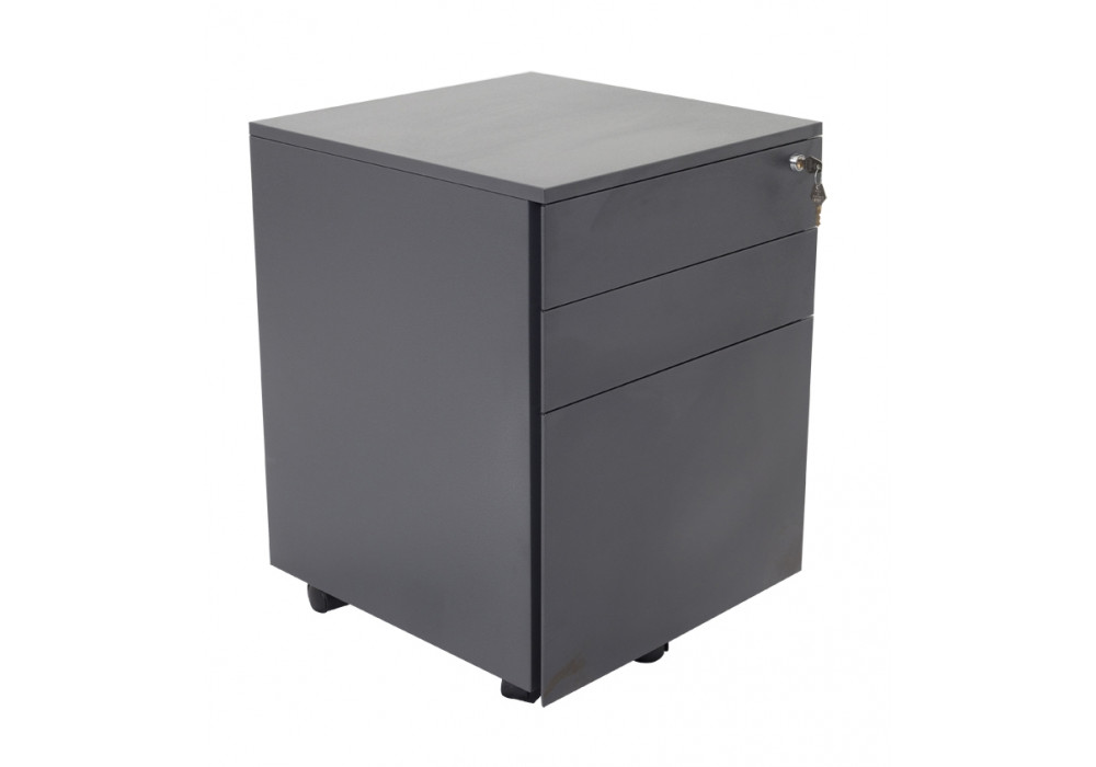 Mobile Pedestal 3 Drawer - steel