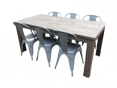 Phillipe 7pce Dining Suite with Tully Chairs