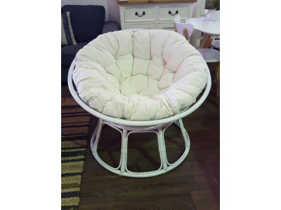 Papasan Chair White