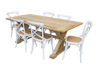 Bordeaux 7 Pce Dining Suite with Bella chairs