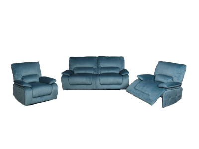 Winslow Electric Reclining Sofa with 2 recliner chairs